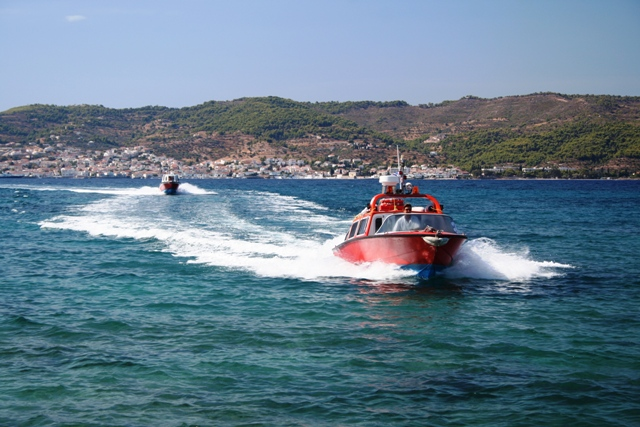 Spetses Island - Water-taxis are the quickest way to reach Spetses