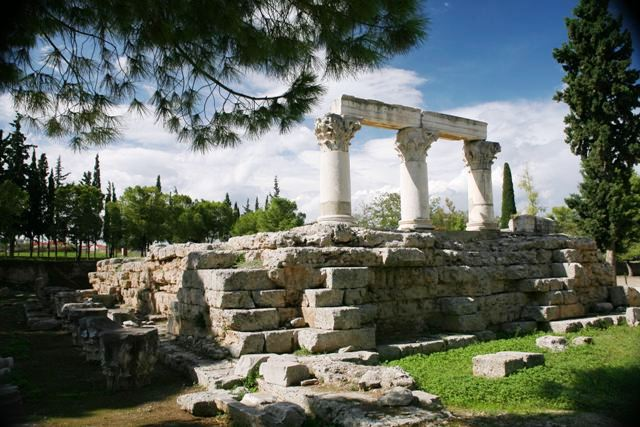 Ancient Corinth - The Corinthian columns of the temple of Octavia