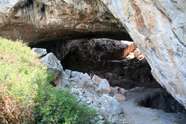 Cave of Franchthi - The entrance to the Mesolithic Cave