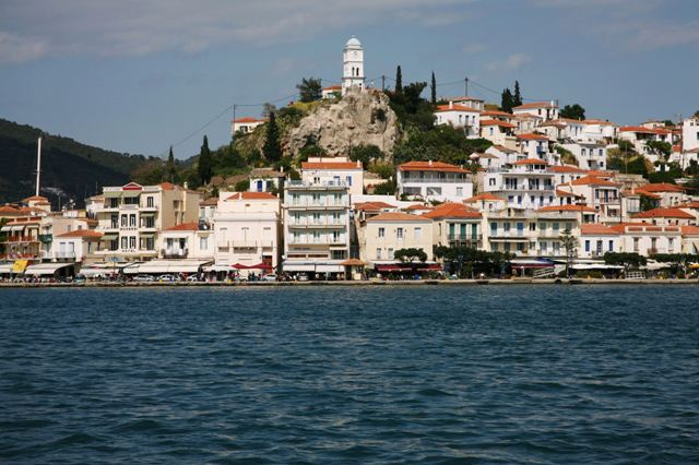Poros Island - There are many waterfront tavernas, cafes and bars