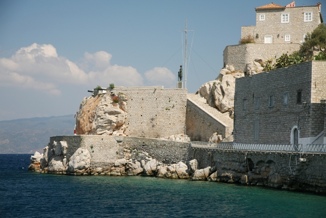 Hydra Island - The main bastion at the harbour entrance