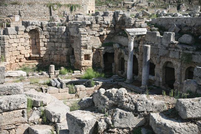 Ancient Corinth - The spring of Peirene square complex