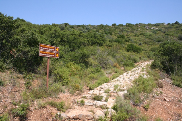 Kazarma - Pathway which leads up to the Western Mycenaean bridge