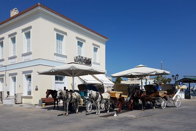 Spetses Island - Traditional one-horse carriages available for hire
