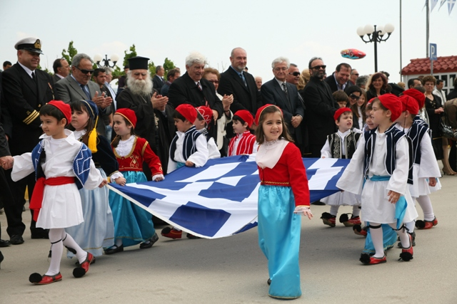 March 25 - Independence Day - Children marching past the dignitaries