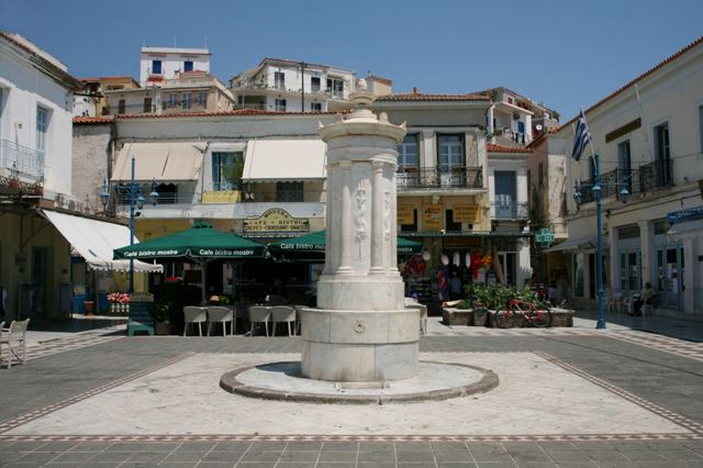 Poros Island - The original water fountain along the waterfront