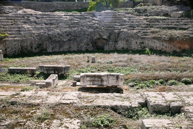 Ancient Corinth - The Roman Odeon theatre of ancient Corinth