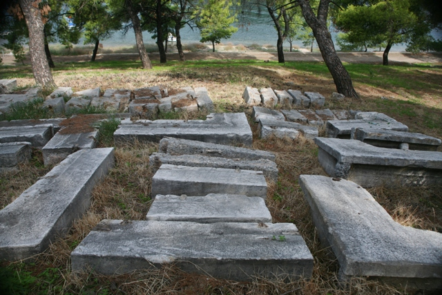 Classical remains from the Temple of Poseidon