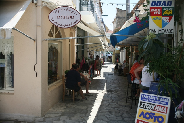 Poros Island - One of the many back-streets with cafes and shops