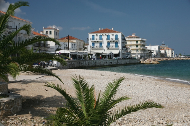 Spetses Island - The small beach is close to the town centre