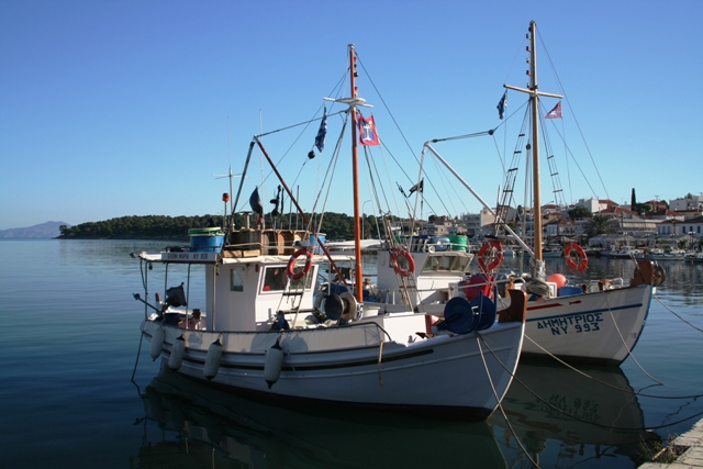 The larger fishing boats