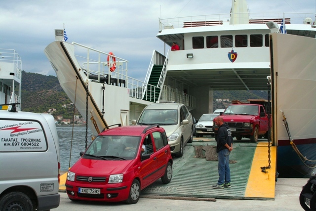 Galatas - It only takes a few minutes to clear the ferry