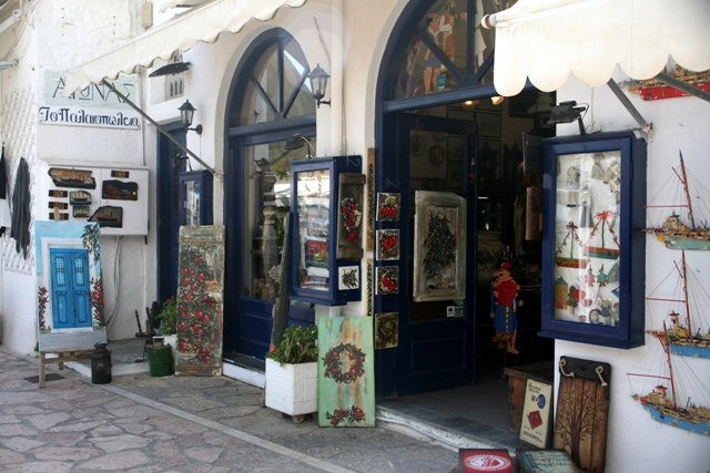 Spetses Island - Art and craft shops line the many back streets