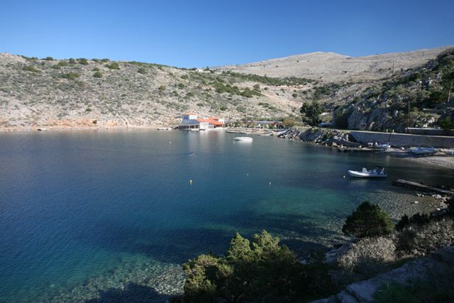 Hydra Island - First view of Mandraki beach