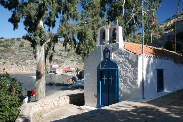 Hydra Island - Small church at Mandraki Bay