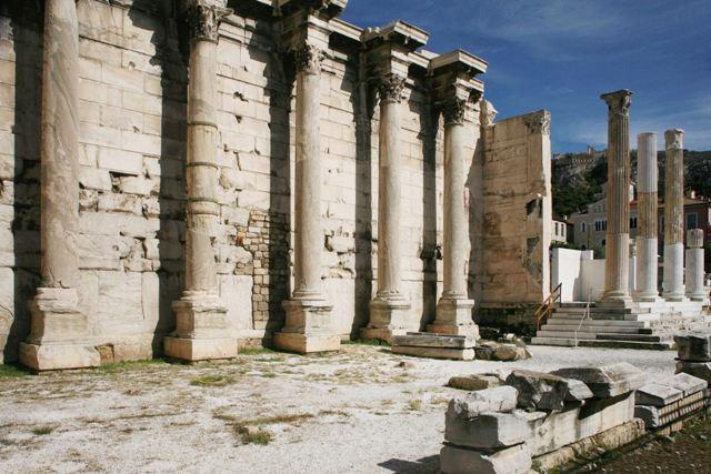 Athens - Hadrian's Library at Monastiraki