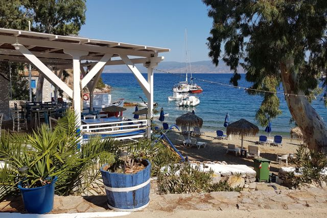 Hydra Island - Taverna sea view at Mandraki Bay