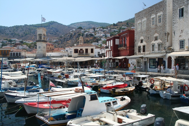 Hydra Island - The smaller inner harbour