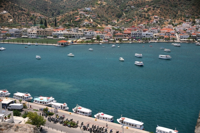 Galatas - The 320m sea crossing from Galatas to Poros