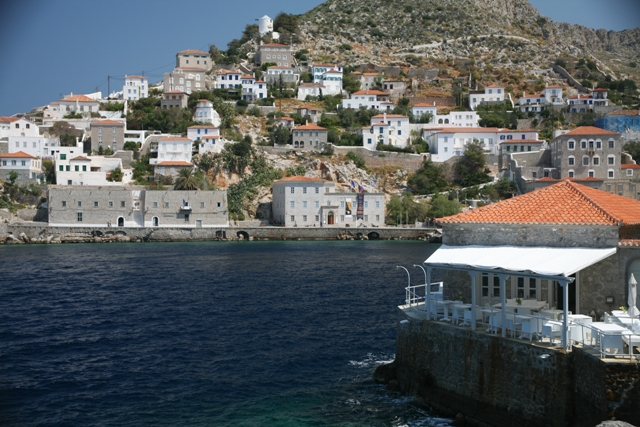 Hydra Island - View of the municipal buildings around the harbour