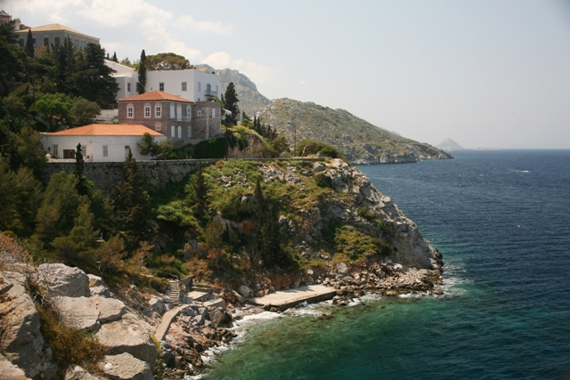 Hydra Island - Views along the coastal pathway to Kamini