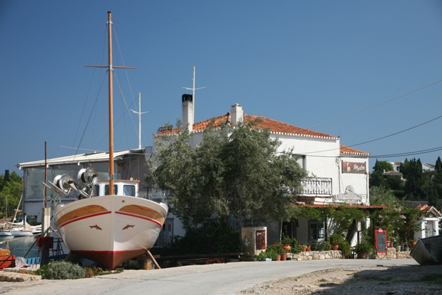 Spetses Island - Tavernas available en-route to the old harbour