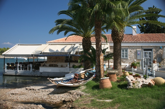 Spetses Island - Most tavernas offer sea and harbour views