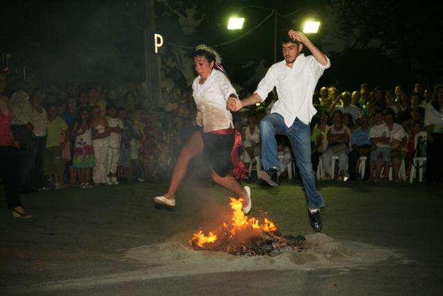 June 23 - 'Klinodas' St.John's festival - Jumping over the flames
