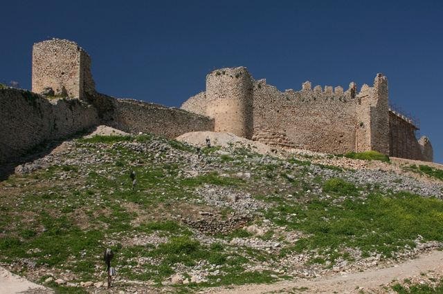 Argos - Inner walls and towers of the castle of Larissa