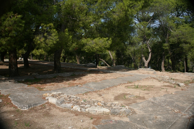 A Byzantine basilica once stood on the temple foundations