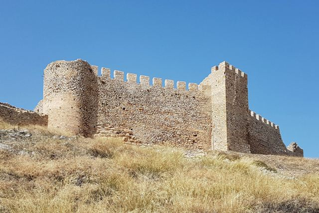 Argos - Renovated tower and battlements of Larissa castle