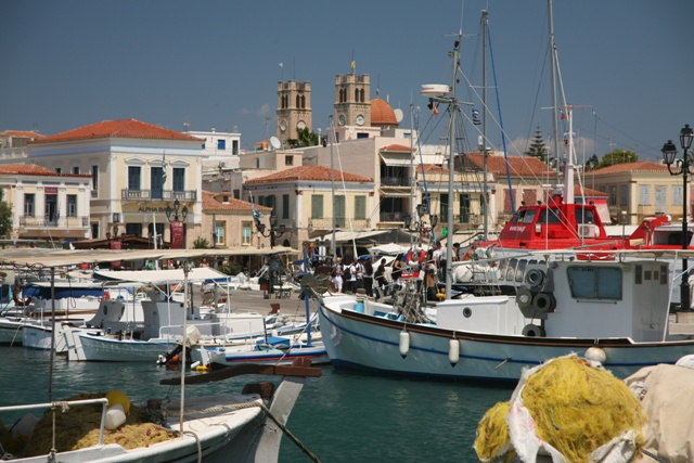 Aegina Island - Inner harbour full of fishing boats