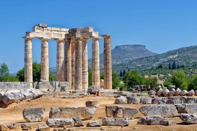 Ancient Nemea - Temple of Nemean Zeus from 330 BC