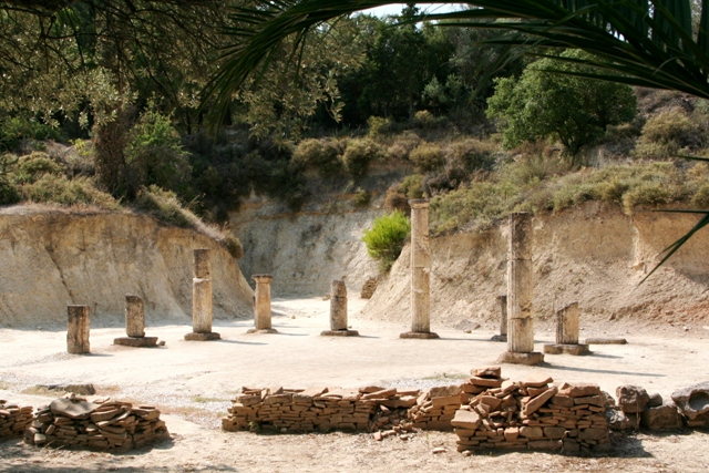 Ancient Nemea - Apodyterium used for athletes preparation
