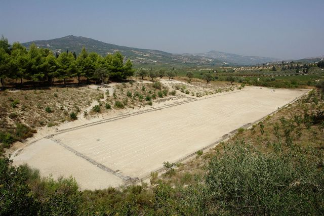 Ancient Nemea - 178m long 12 track Stadium