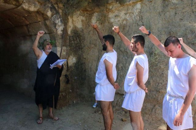 Ancient Nemea - Athletes taking the Nemean oath