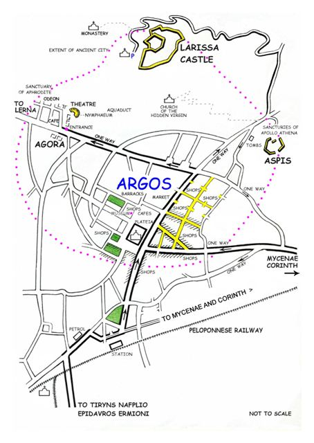 Argos - Plan of the city
