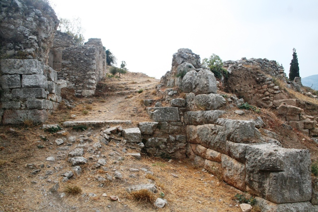 Asine - Clear walkways leading up to the Acropolis