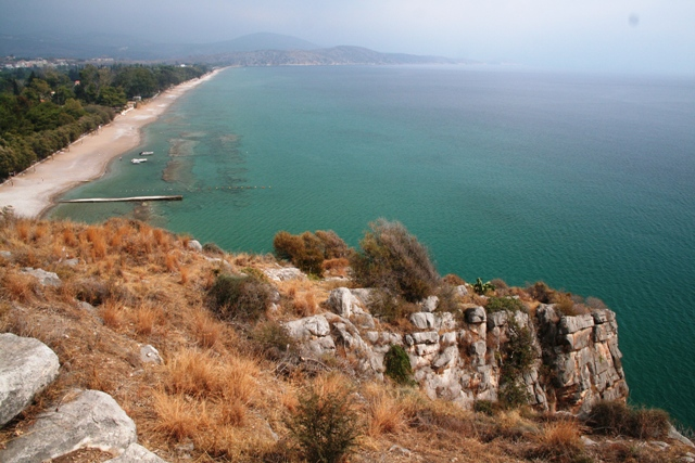 Asine - View of the eastern beach also used for camping