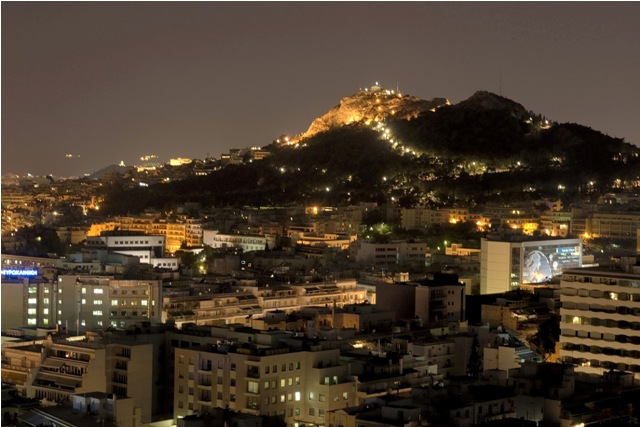 Athens - Mount Lycabettus by night