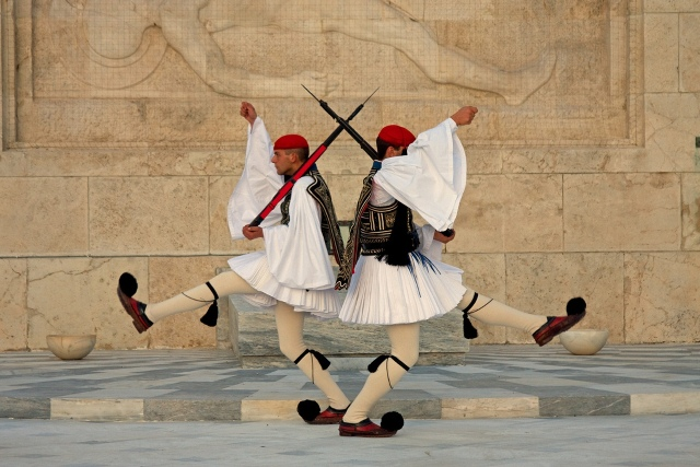 Athens - Evzones changing of the guard at Syntagma