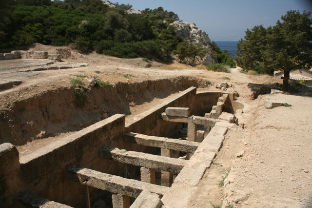 Ancient Heraion - The large underground water cistern of Heraion