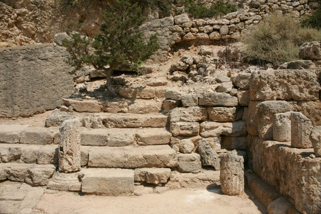 Ancient Heraion - Stoa steps leading to the upper floor
