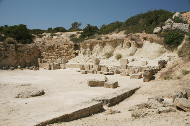 Ancient Heraion - View towards the Agora (West court)