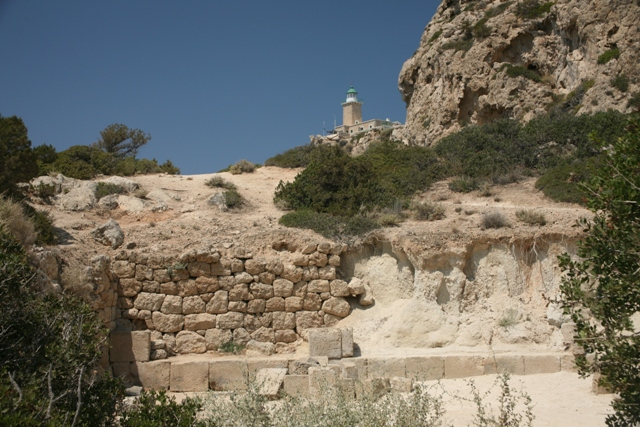 Ancient Heraion - Agora view of the Cape Melagavi lighthouse