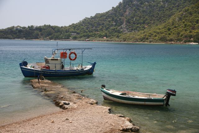 Ancient Heraion - Vouliagmeni Lagoon is still used for fishing