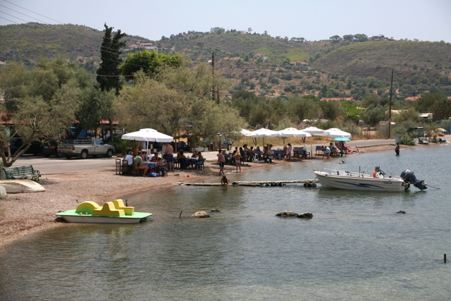 Ancient Heraion - The Lagoon is used for fishing, swimming and relaxing