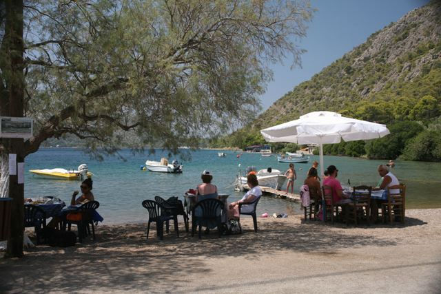 Ancient Heraion - A chance to sit down and enjoy a good meal and cool drink