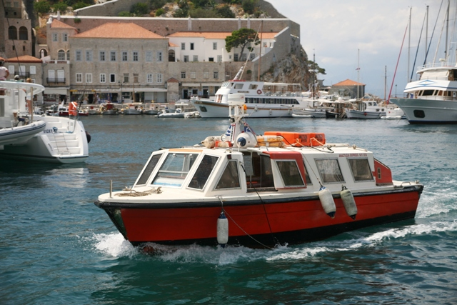 Sea Taxi's will take you to nearby Kamini and Mandraki beach