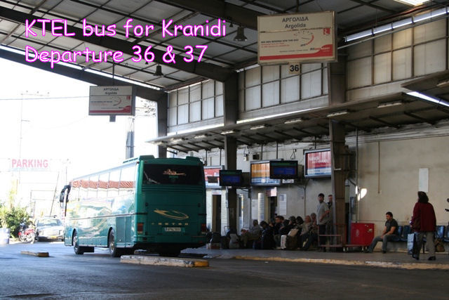 Getting there - By bus: Departure point 36 & 37 for KTEL bus to Kranidi
